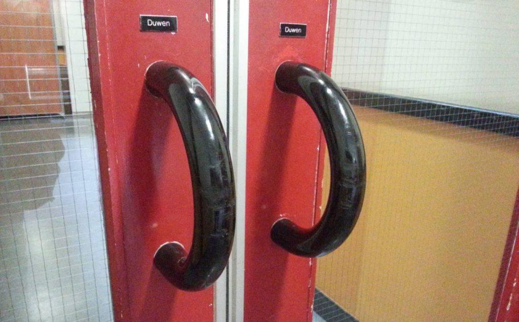Niet gebruiksvriendelijk - voorbeeld van een deur