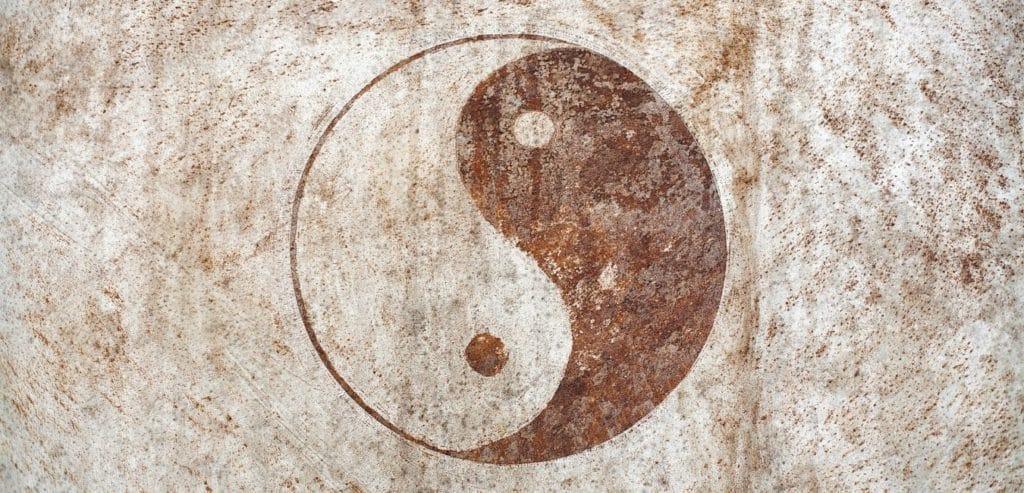 yin en yang - visuele identiteit vroeger al